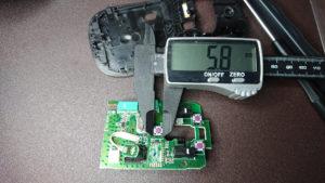 マウス基板上のタクトスイッチ