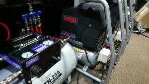 掃除用のエアーコンプレッサー