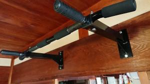 懸垂バー設置完了