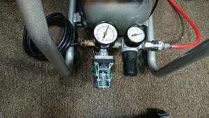 コンプレッサーの圧力スイッチ交換後